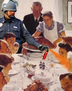 pepper-spray-norman-rockwell-thanksgiving