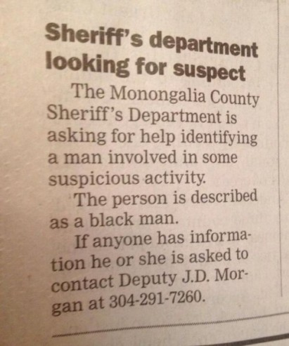 suspicious black man