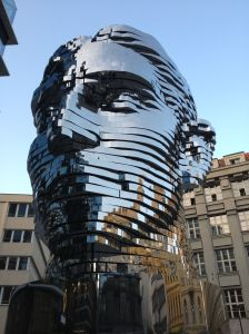 Kafka Sculpture at City Hall