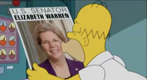 homer simpson elizabeth warren